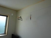 4畳半タイプの物干ワイヤー利用例