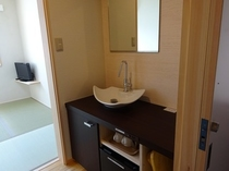 4畳半タイプの洗面所