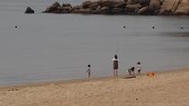 宿の前の砂浜