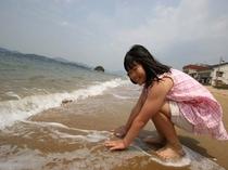 白石島海水浴場・子供4