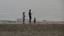 宿の前の浜辺