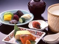 豆腐や京漬物の和朝食