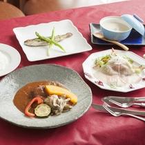 *夕食(一例)/信州和牛☆赤ワイン煮洋食コース