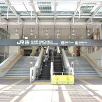 【松本駅】JR松本駅からホテルまでは徒歩で約2分。