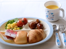 朝食(お子様盛り付けイメージ)