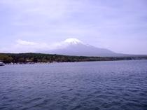 山中湖上より見る富士山
