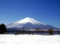 山中湖交流プラザ「きらら」から見る富士山
