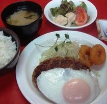 【ハンバーグ定食】ボリューム満点!!