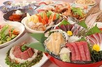 宴会メニュー「極の宴」全9品4,300円(税込)
