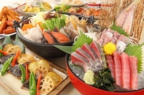 宴会メニュー「彩の宴」全8品3,800円(税込)