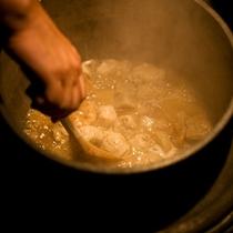 釜で作る料理