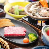 鮑のバター焼き& 国産和牛鉄板焼ステーキプラン【個室でお食事】