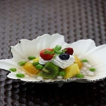 グリーンピースを使用した夏のデザート