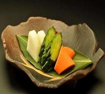 お料理の箸休めに(お香のもの)