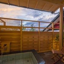 露天風呂付和モダン客室 露天風呂からの眺め