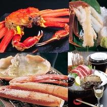 蟹料理と石焼き