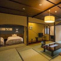 露天風呂付和モダン客室 和室からの眺め
