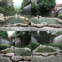 4ヶ所の貸切露天風呂