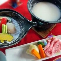 和牛シチュー鍋と海鮮焼き