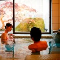 湯亭 花のれんの貸切温泉【バラ色の人生】