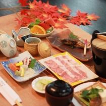 【いつき会席】季節の食材を使ったボリュームのある料理をご賞味下さい(秋一例)
