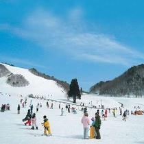 恩原高原スキー場まで車で15分です