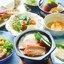 【いつき会席(一例)】季節の食材を使った料理 ※仕入れ状況により内容が異なる場合ございます
