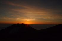 夏 白馬岳からの夕日