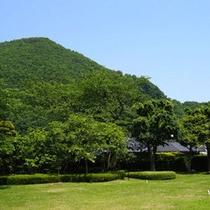 *和風庭園 夏は、緑の芝生でおくつろぎいただけます。
