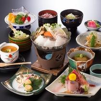 *【夕食(一例)】月替わりの和風会席膳をお楽しみください。