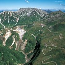 【航空写真】立山、室堂と立山高原ホテル