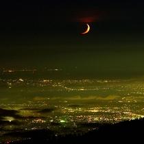 【景色】テラスから見える富山市内の夜景