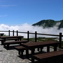【景色】テラスから見える雲海