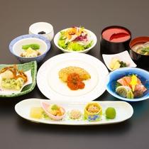 *【夕食一例/憩コース】地元食材を大切に1品、1品、丁寧に仕上げています。