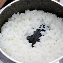 ■釜で炊くご飯■