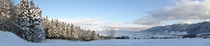 ペンションアウラから見える雪景色