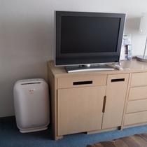 全室、加湿機能付き空気清浄器&液晶テレビ完備