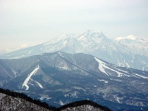山頂沢コ-スからの眺め
