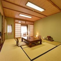 *【川側】和室10+広縁4畳(トイレ付) 眺望◎四季折々の景観を楽しみながらのんびり。