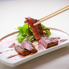 【ステーキ会席】スタンダード旬会席にあつあつステーキをプラス♪やっぱりお肉も食べたーい!