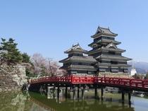 松本城・春