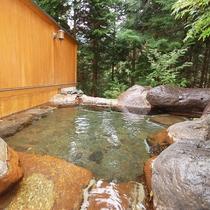 森林浴を楽しみながら一度に各7~8名ゆったり入れる大きさ!