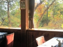 レストランからの紅葉