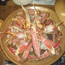 松葉がに陶板宝楽焼きの一例