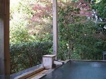 【貸切露天風呂】 紅葉や小鳥のさえずりに包まれます。