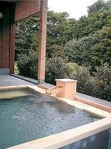 【貸切露天風呂】 緑と小鳥のさえずりに包まれた庭園露天