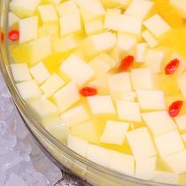サンバレーオリジナル  レモネード風味の杏仁豆腐♪