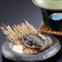 アワビの踊り焼き(一例)
