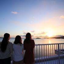 ホテル観洋からの絶景朝日