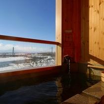 露天風呂付客室和室10畳(冬)イメージ